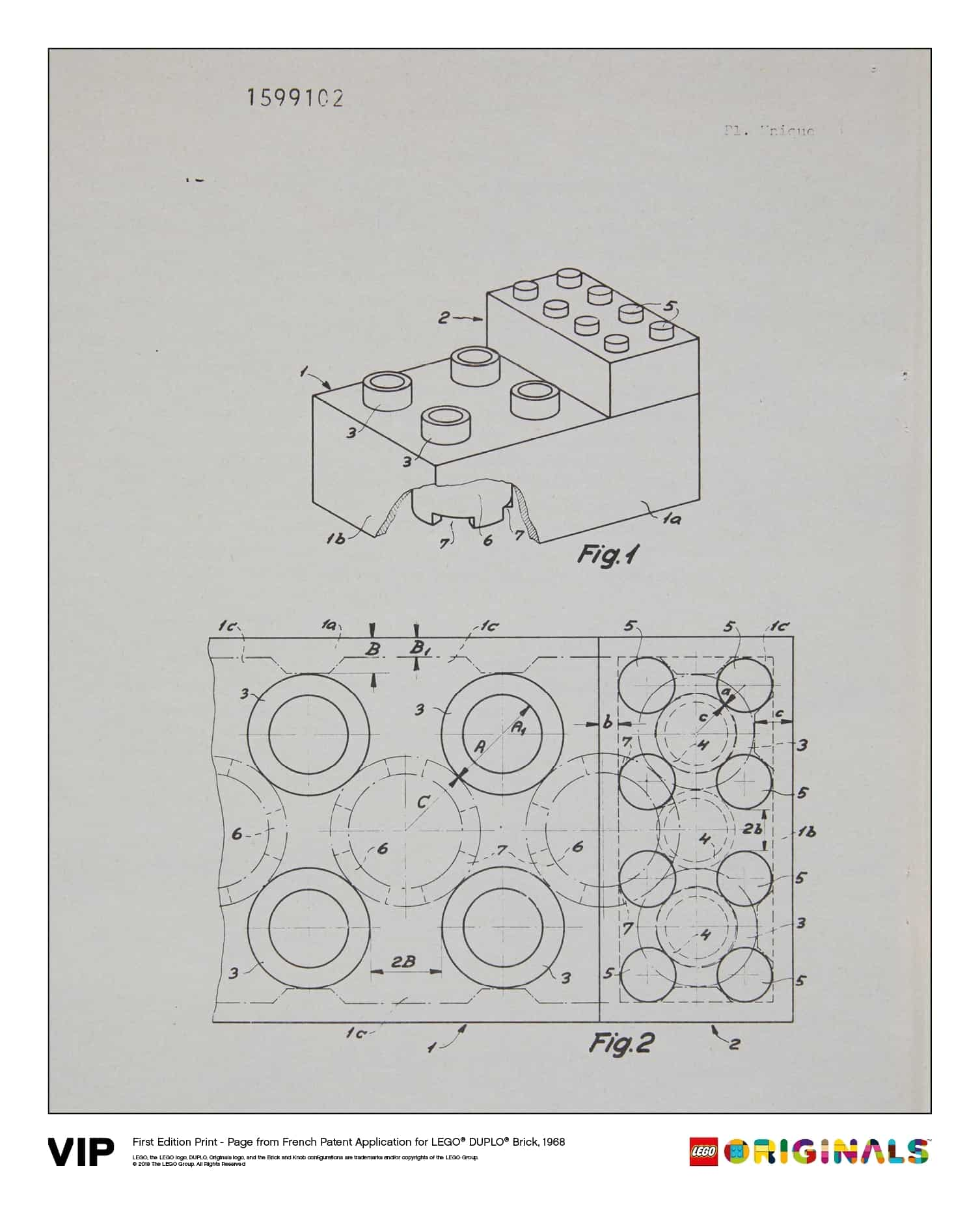 french patent lego duplo brick 1968 5005998