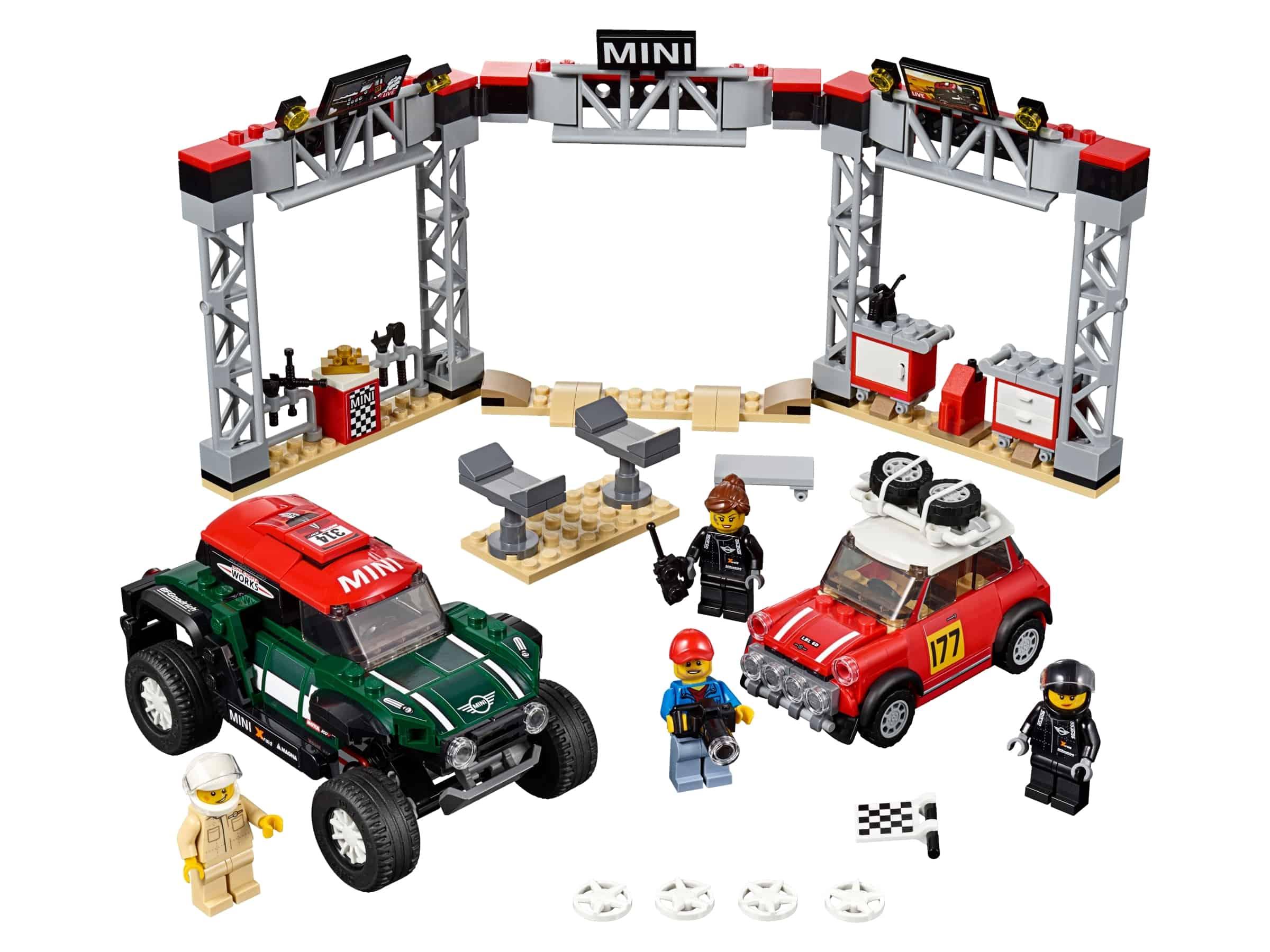 lego 1967 mini cooper s rally en 2018 mini john cooper works buggy 75894