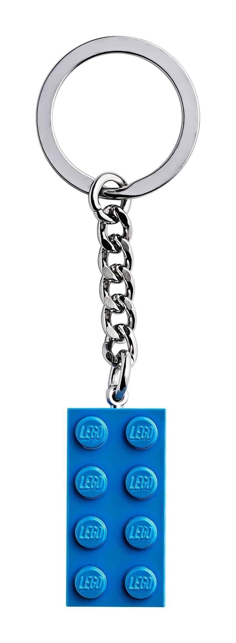 lego 2x4 lichtblauwe sleutelhanger 853993