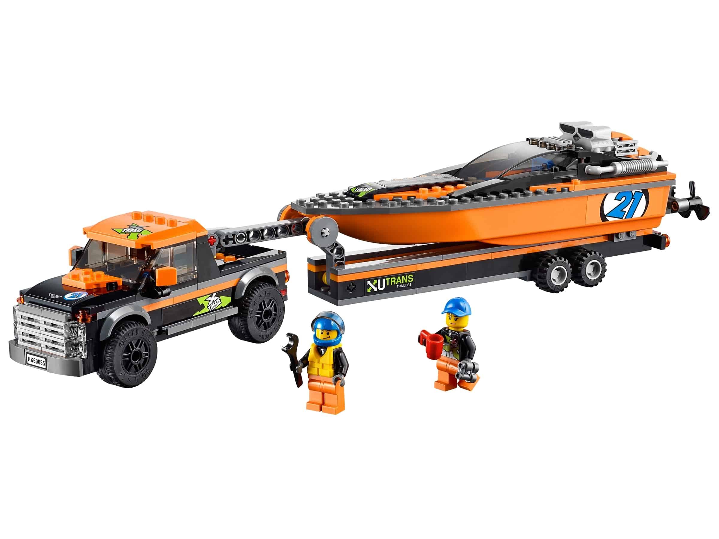 lego 4x4 met speedboot 60085