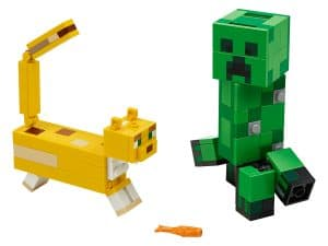 lego bigfig creeper en ocelot 21156