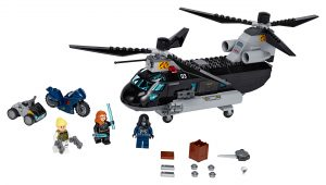 lego black widows helikopterachtervolging 76162