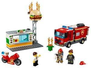 lego brand bij het hamburgerrestaurant 60214