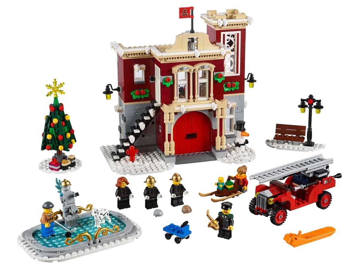 lego brandweerkazerne in winterdorp 10263