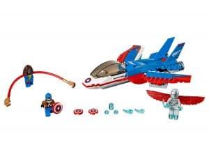 lego captain america jet achtervolging 76076