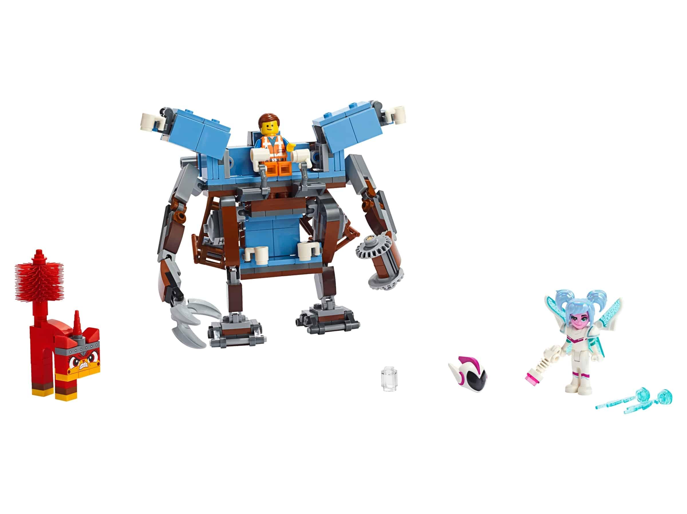 lego emmets mecha met een zitbank met drie verdiepingen 70842
