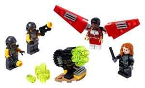 lego falcon black widow duoteam 40418