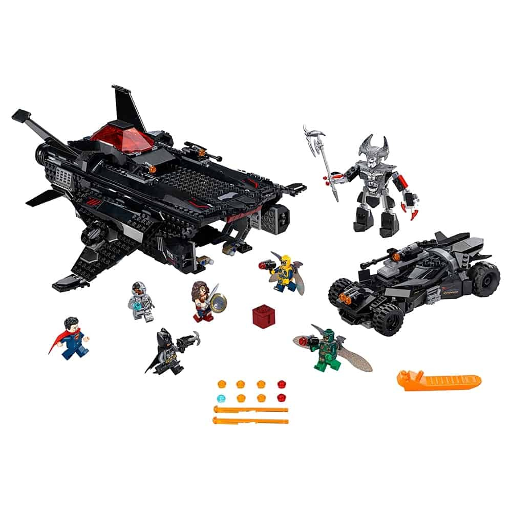 lego flying fox batmobile luchtbrugaanval 76087