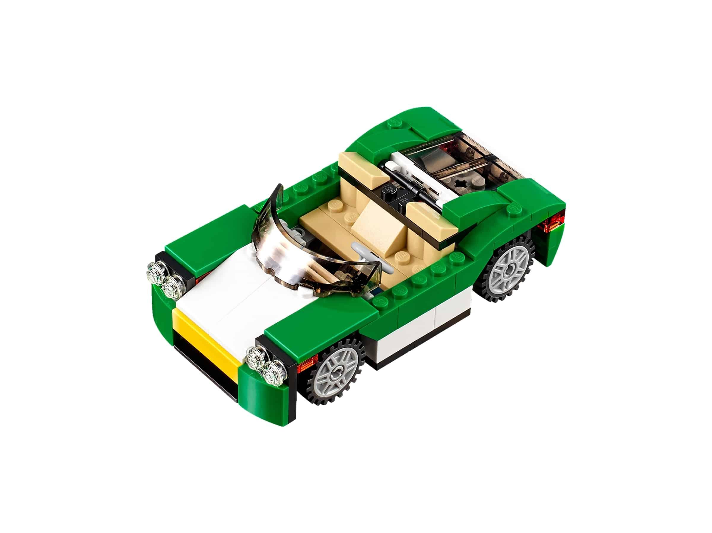 lego groene sportwagen 31056