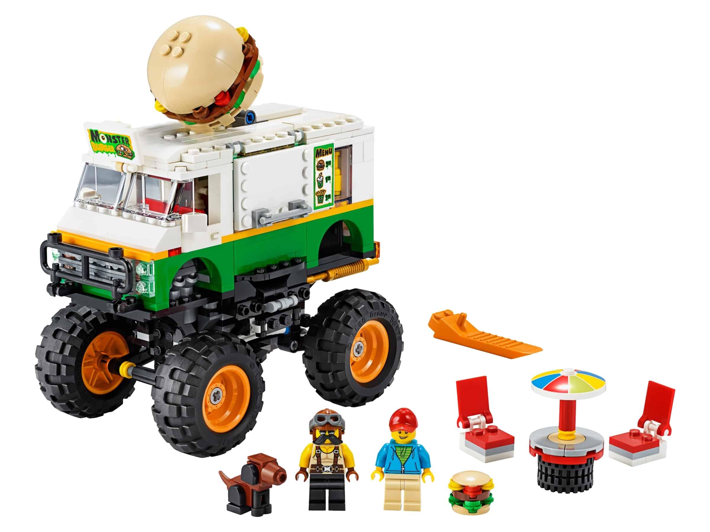 lego hamburger monstertruck 31104