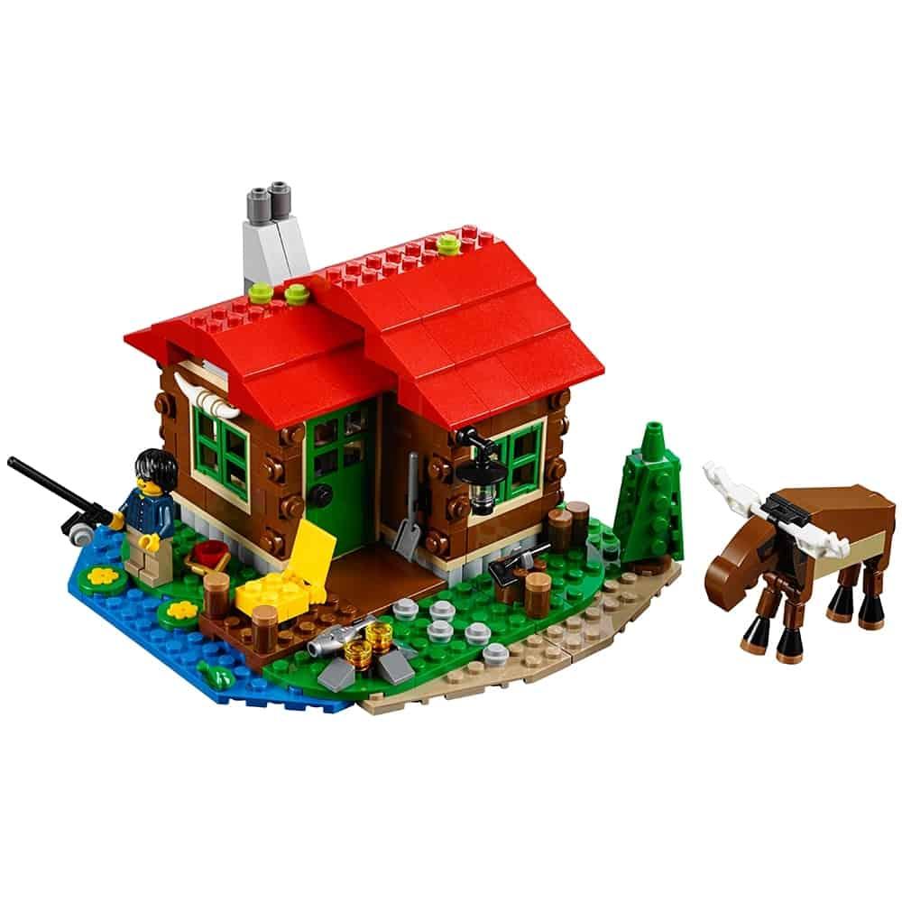 lego huisje aan het meer 31048