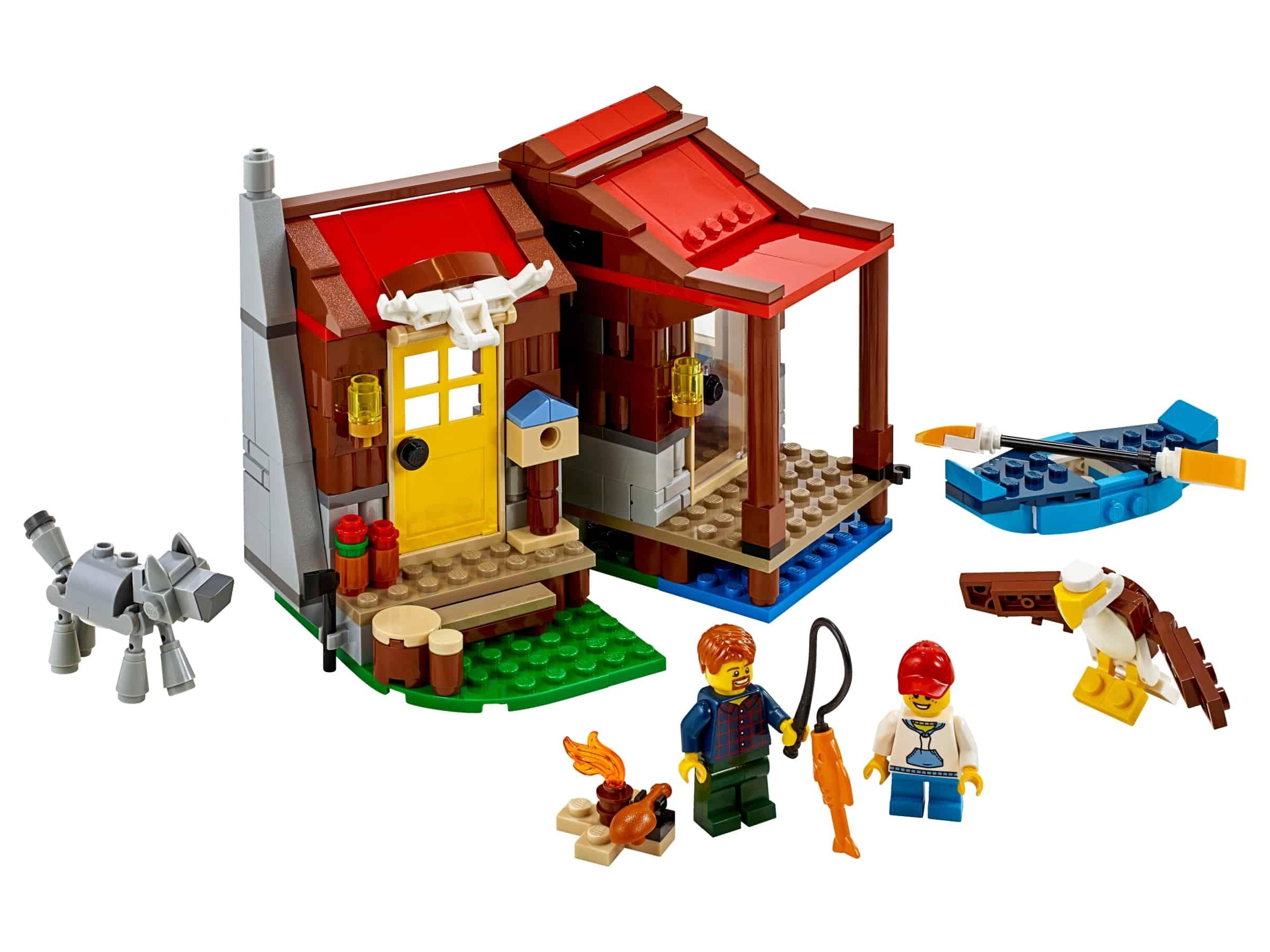 lego hut in de wildernis 31098