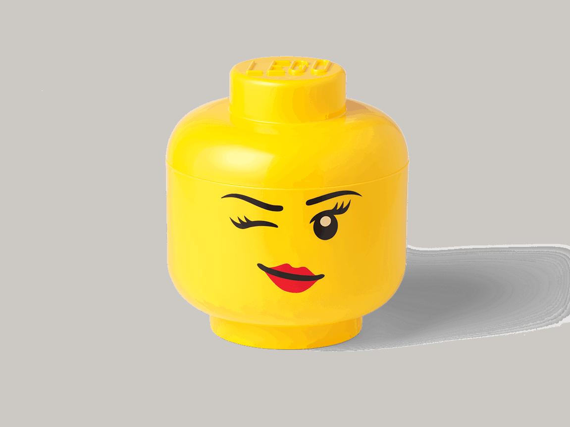 lego opberghoofd klein knipogend 5006186