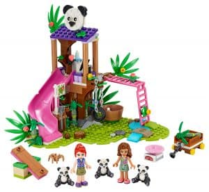 lego panda jungle boomhut 41422