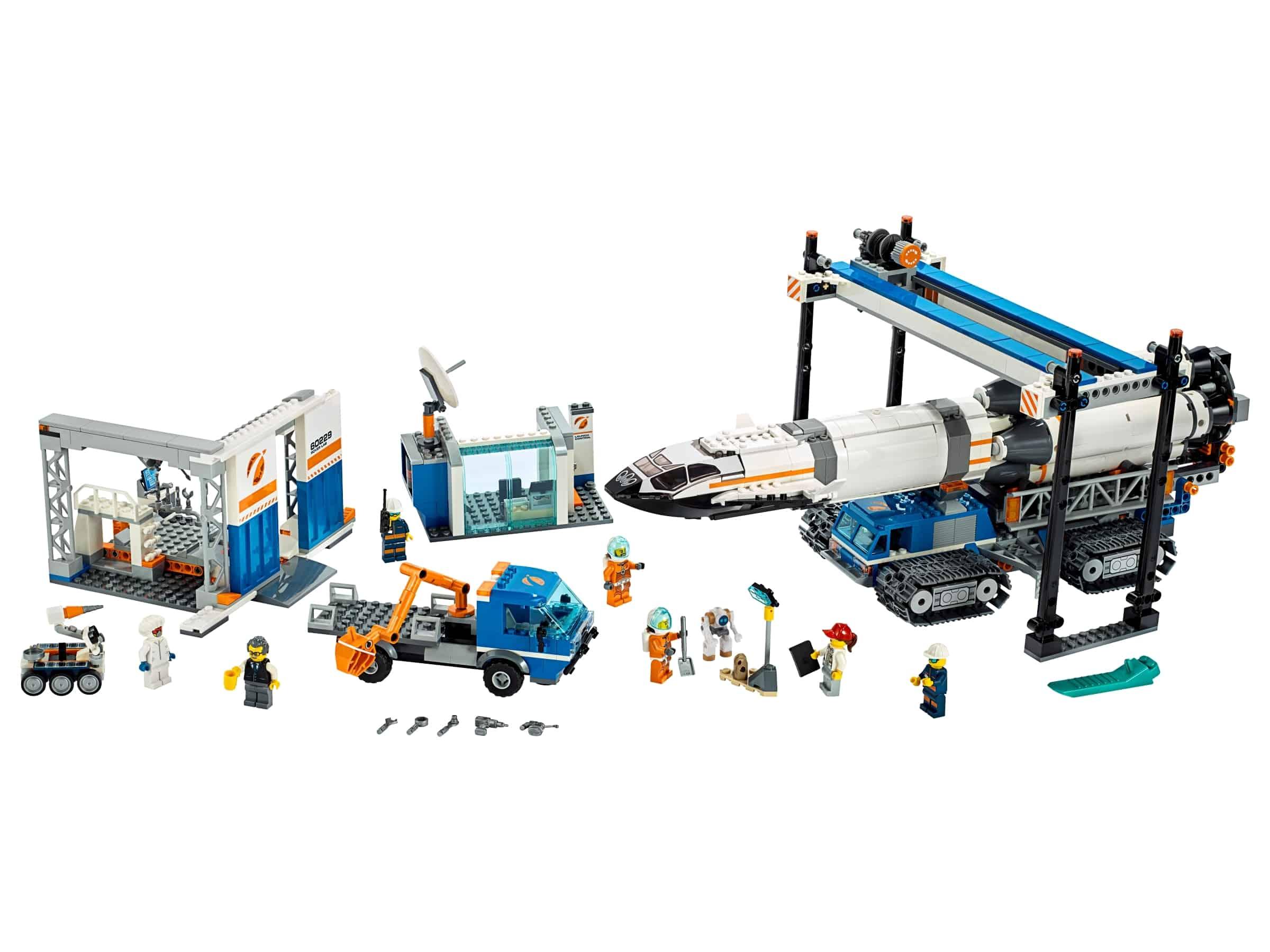 lego raket bouwen en transporteren 60229