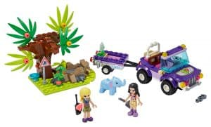 lego reddingsbasis babyolifant in jungle 41421
