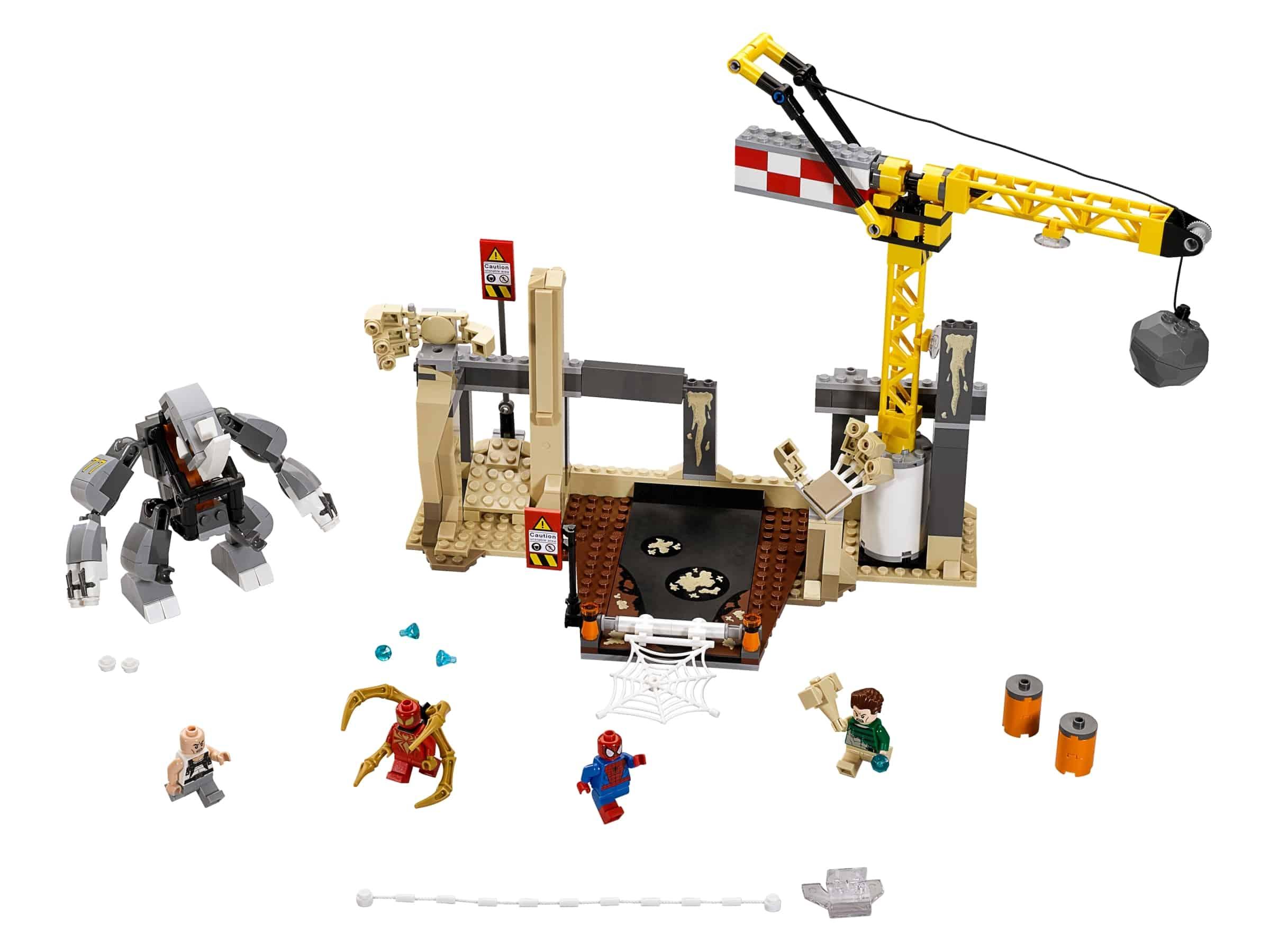 lego rhino en sandman superschurk samenwerking 76037