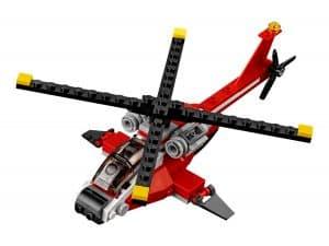 lego rode helikopter 31057