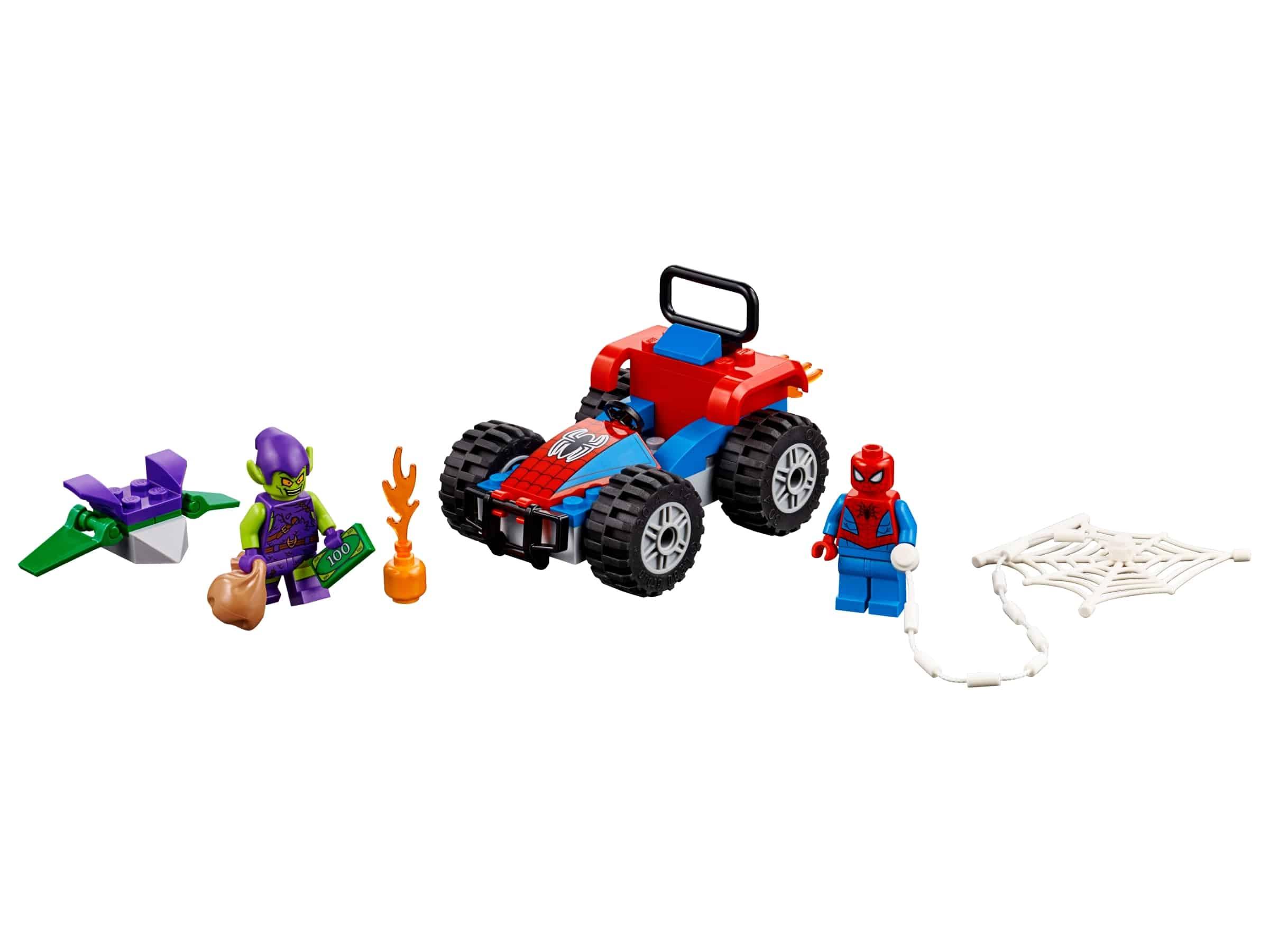 lego spider man auto achtervolging 76133