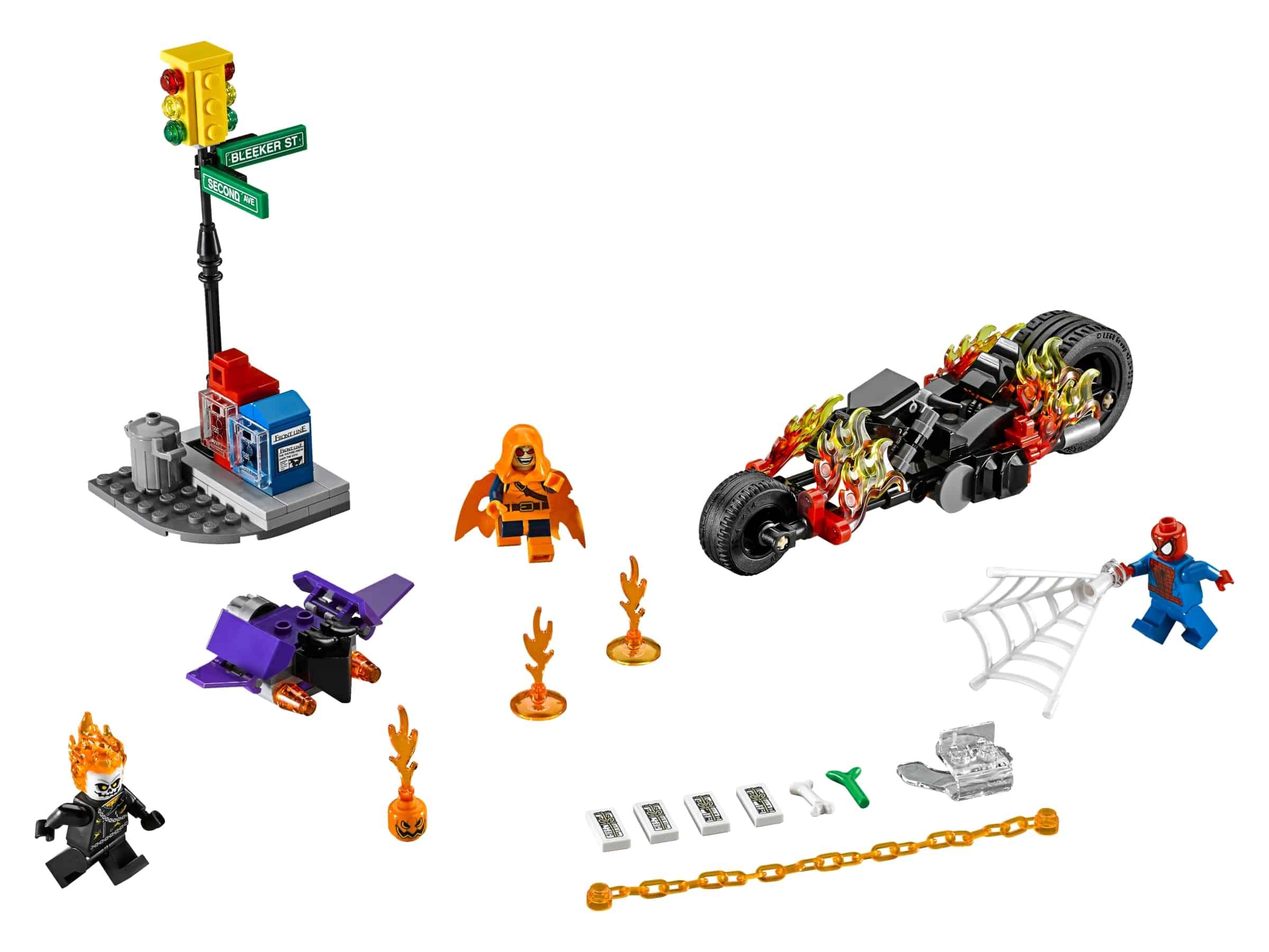 lego spider man ghost rider samenwerking 76058