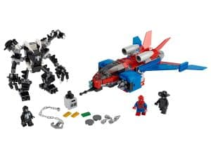 lego spiderjet vs venom mecha 76150