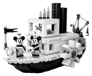 lego stoomboot willie 21317