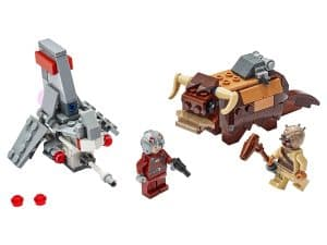 lego t 16 skyhopper vs bantha microfighters 75265
