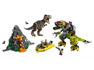 lego t rex vs dinomecha gevecht 75938
