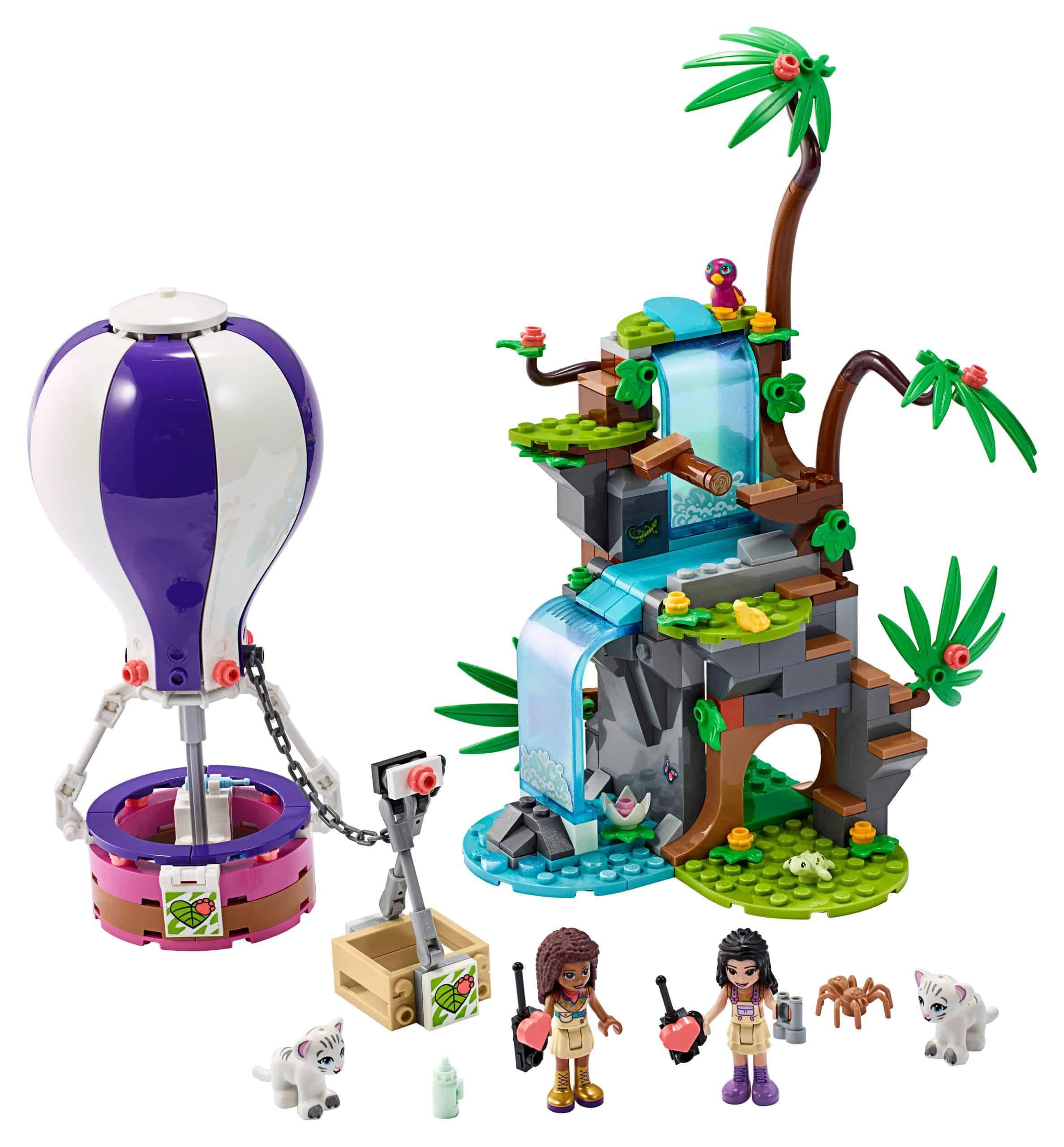 lego tijger reddingsactie met luchtballon in jungle 41423 scaled