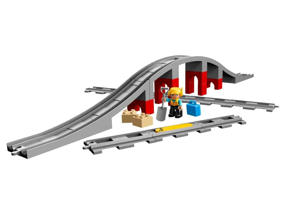 lego treinbrug en rails 10872