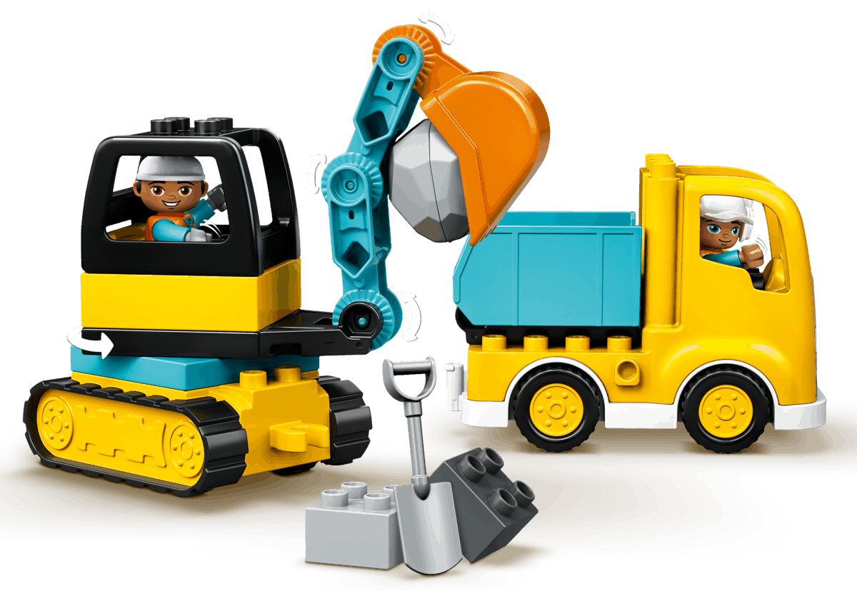 lego truck graafmachine met rupsbanden 10931