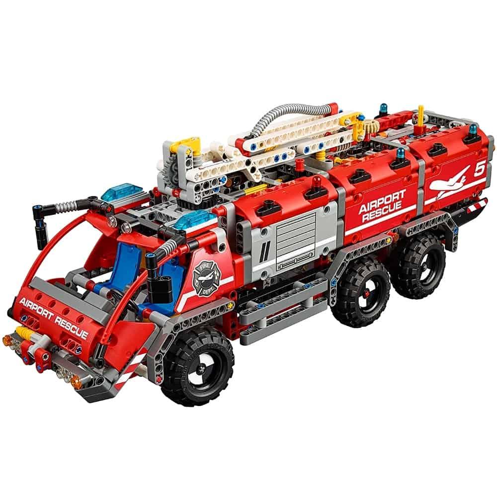 lego vliegveld reddingsvoertuig 42068