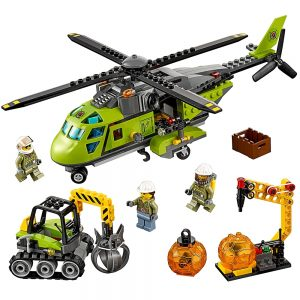 lego vulkaan bevoorradingshelikopter 60123