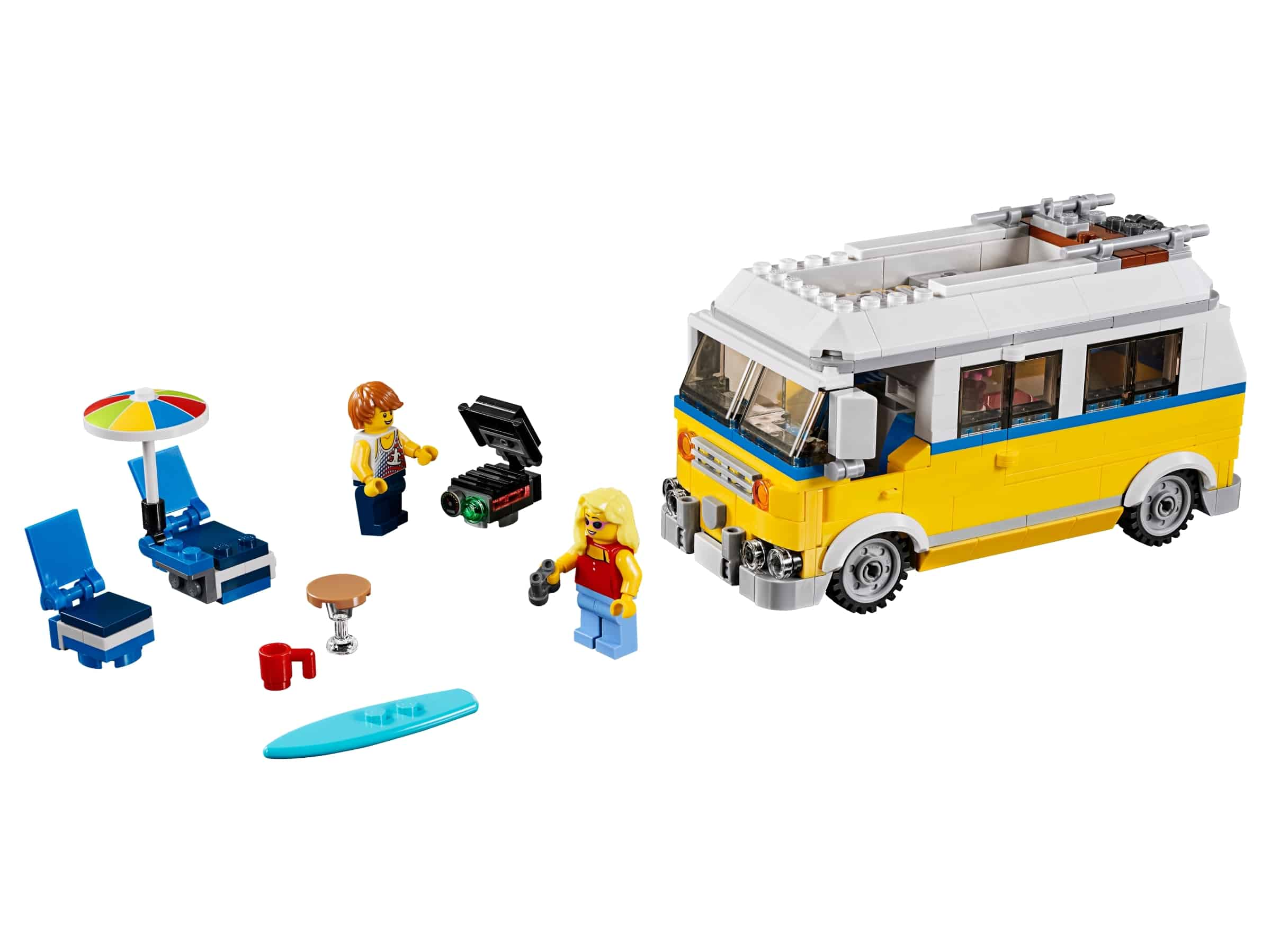 lego zonnig surferbusje 31079