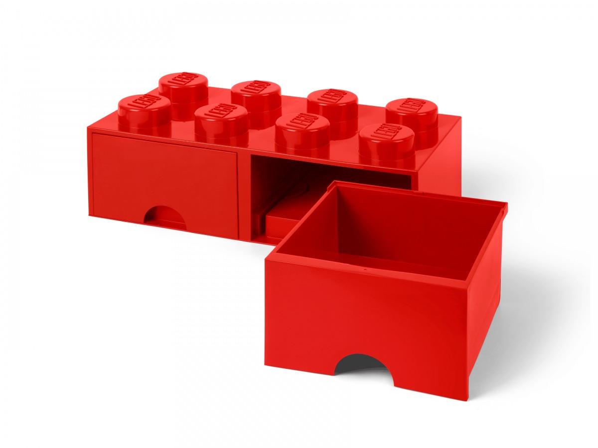 rode lego opbergsteen met 8 noppen 5006131