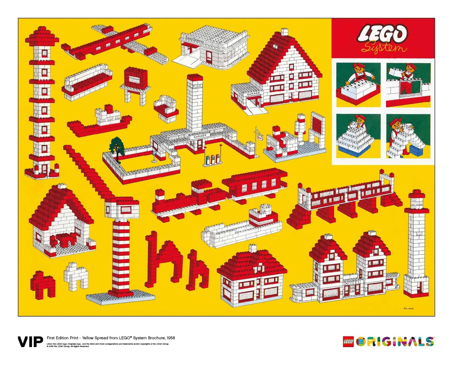 yellow spread lego system brochure 1958 5006005