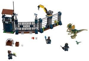 lego aanval op de uitkijktoren van dilophosaurus 75931