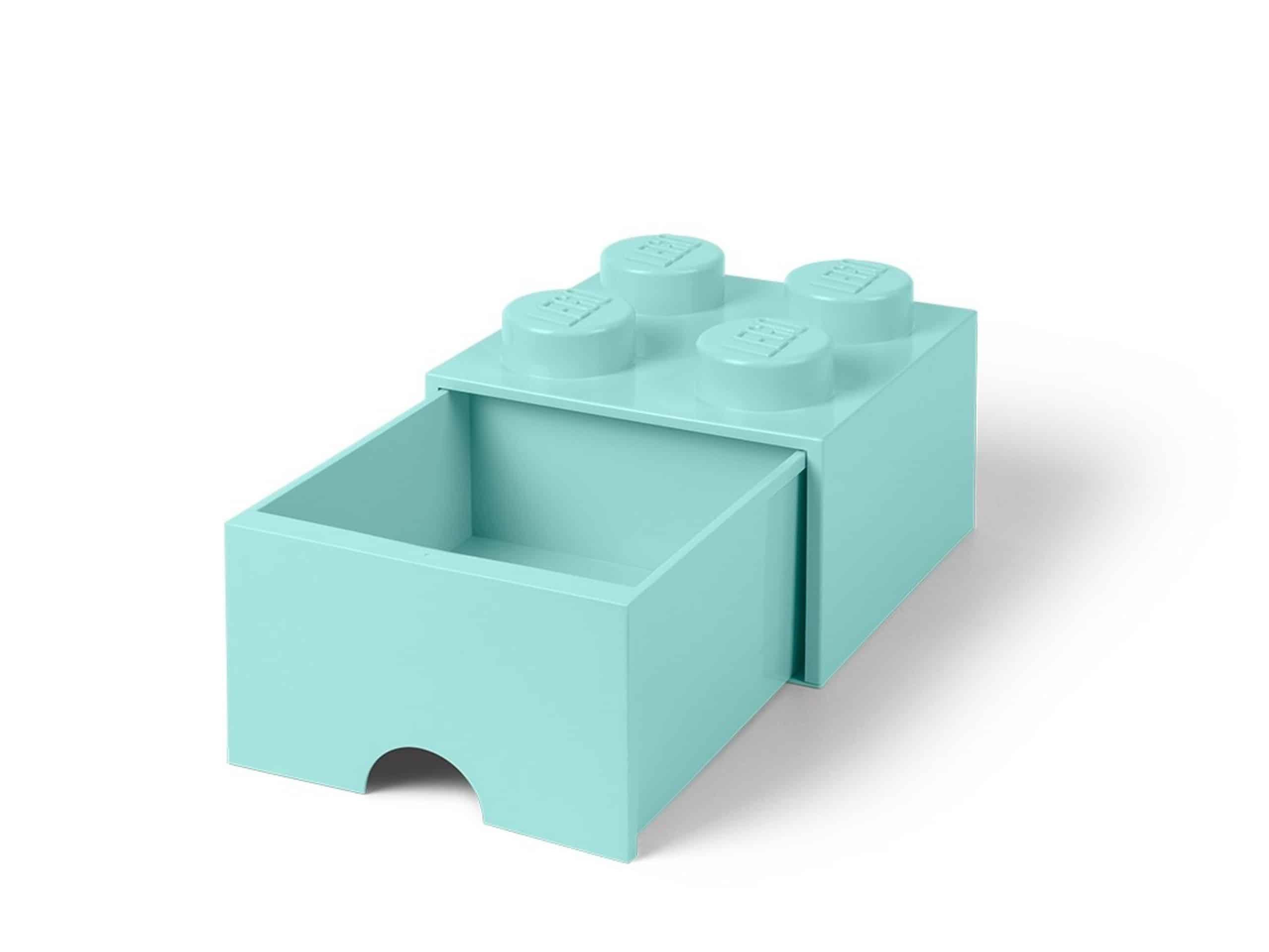 lego felazuurblauwe opslagsteen met 4 noppen en een lade 5005714 scaled