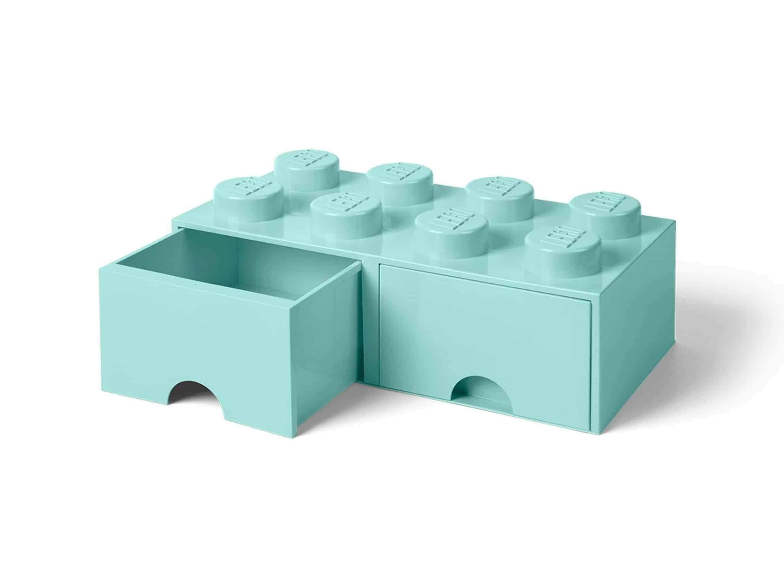 lego felazuurblauwe opslagsteen met 8 noppen en 2 lades 5006182 scaled