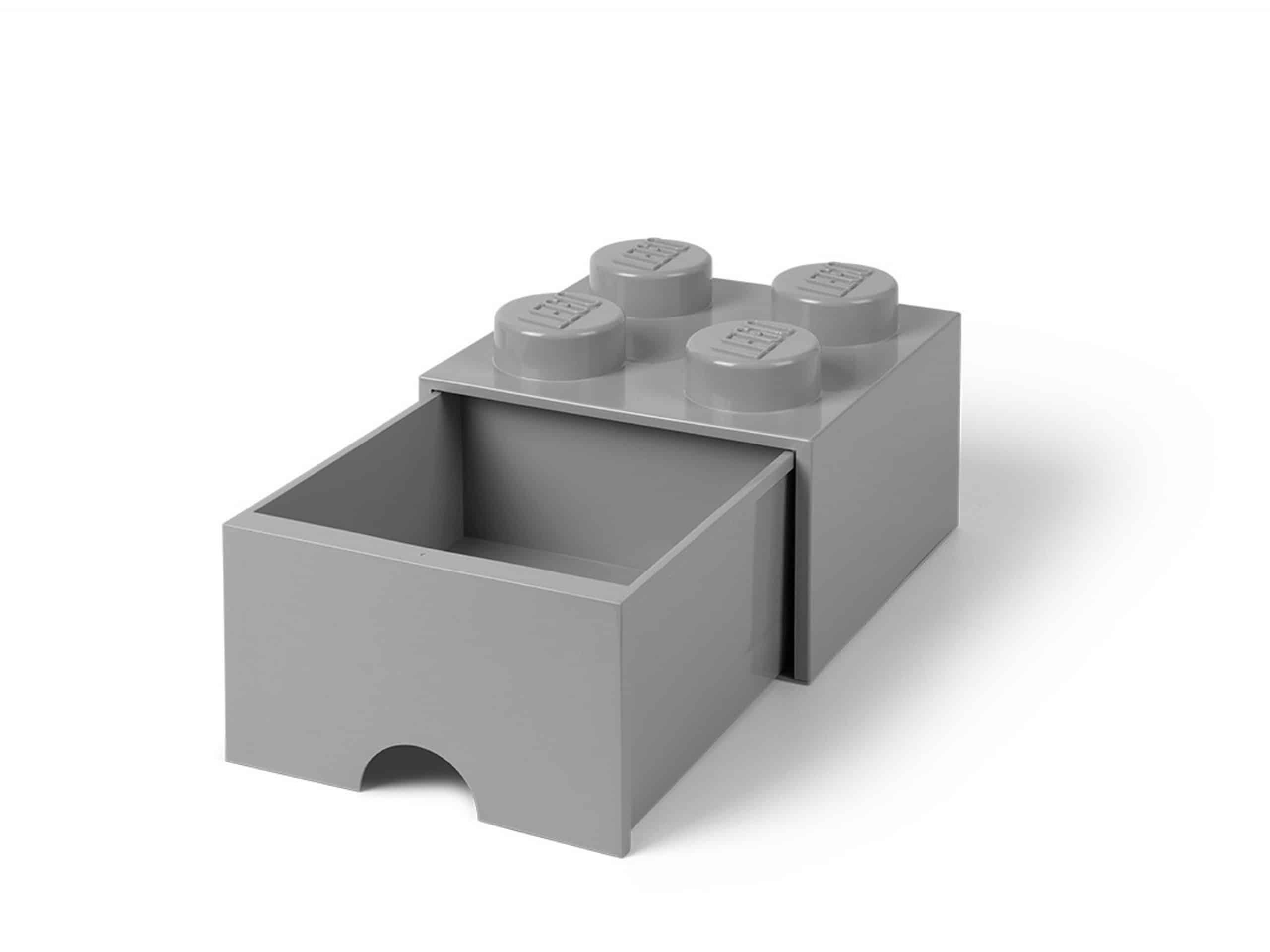 lego steengrijze opslagsteen met 4 noppen en een lade 5005713 scaled