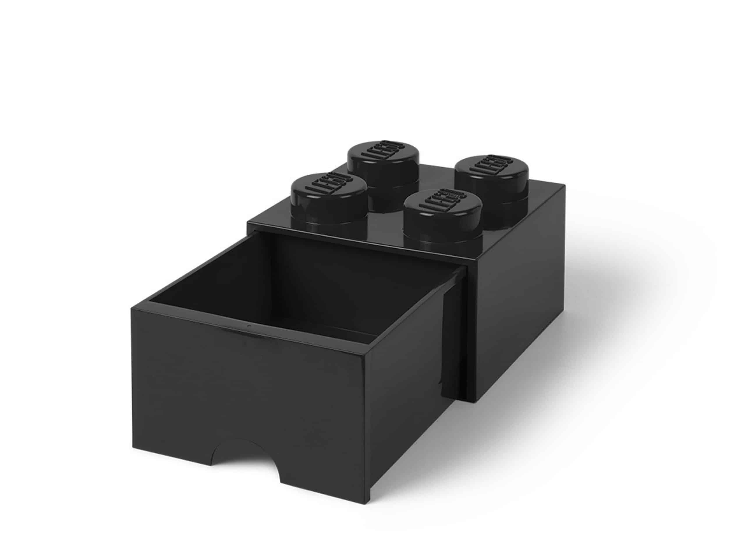 lego zwarte opslagsteen met 4 noppen en een lade 5005711 scaled