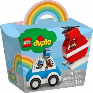 lego 10957 brandweerhelikopter en politiewagen