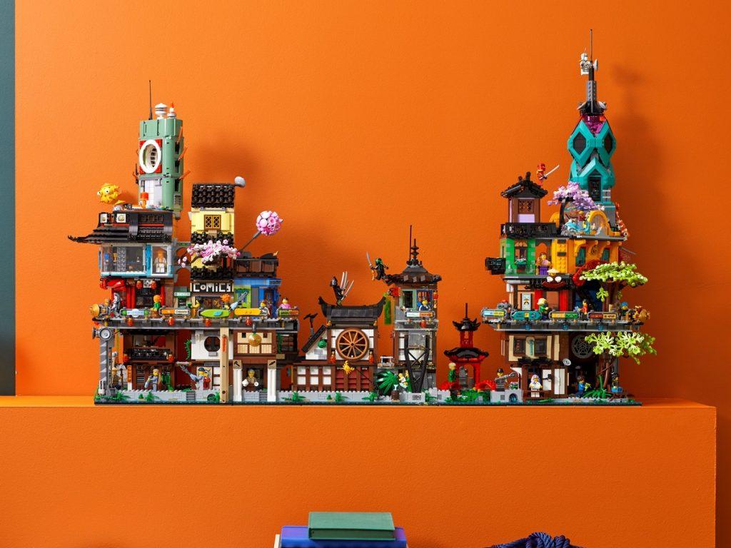 Overzicht van LEGO 71741 NINJAGO stadstuinen