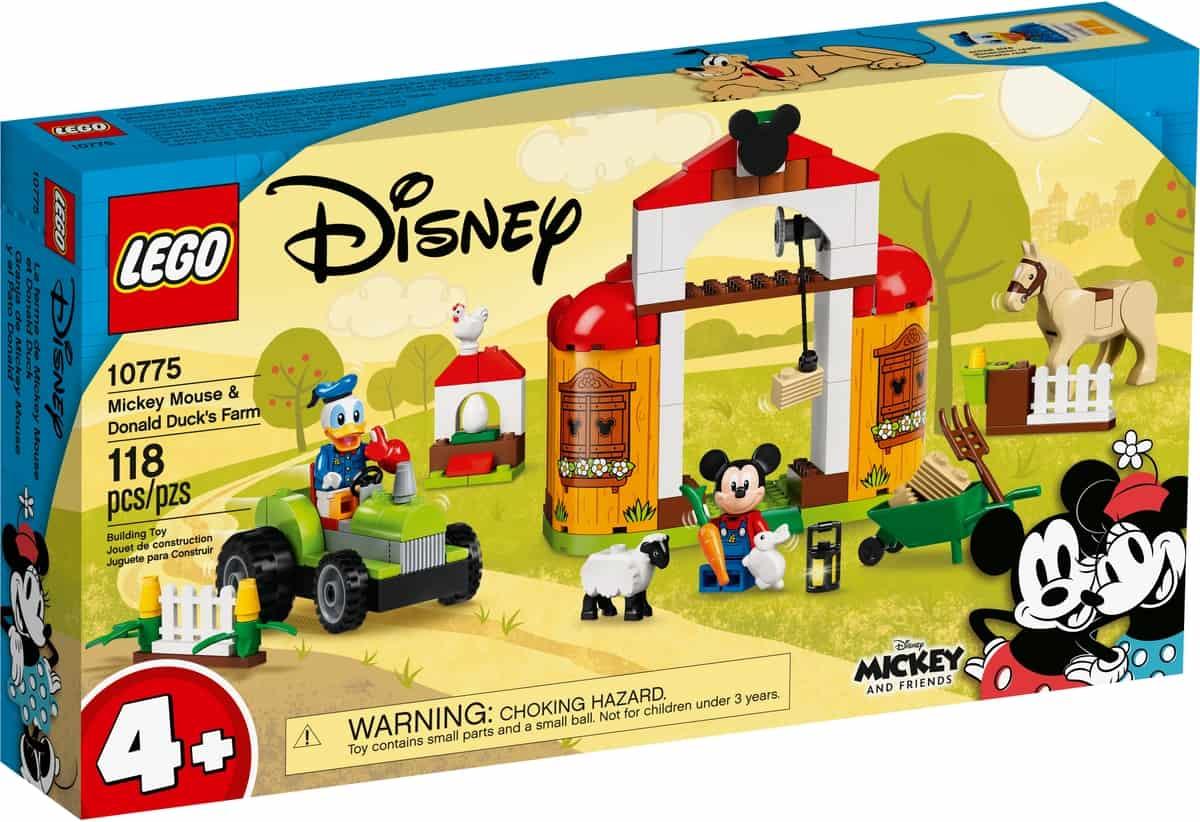 lego 10775 mickey mouse donald duck boerderij