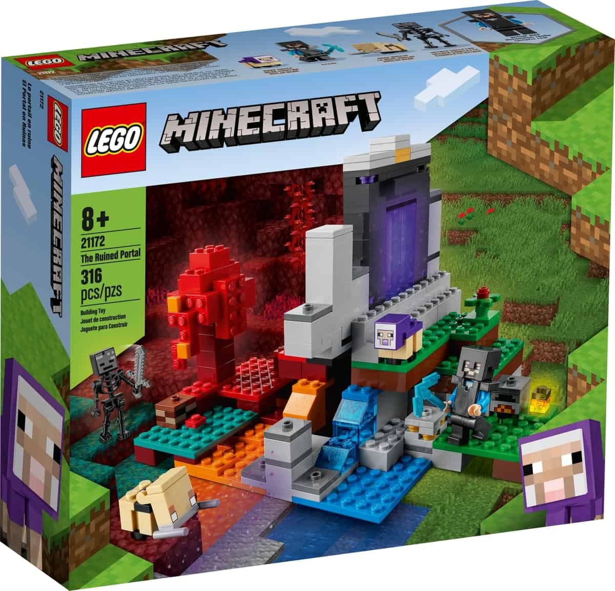 lego 21172 het verwoeste portaal