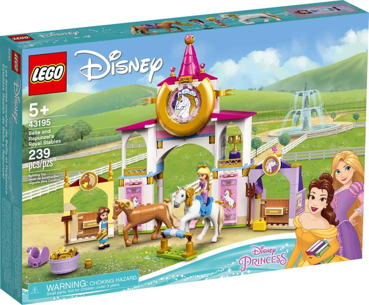 lego 43195 belle en rapunzels koninklijke paardenstal