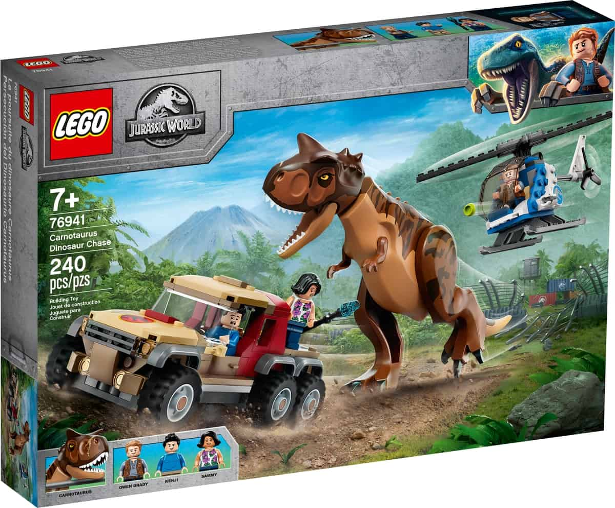 lego 76941 achtervolging van dinosaurus carnotaurus