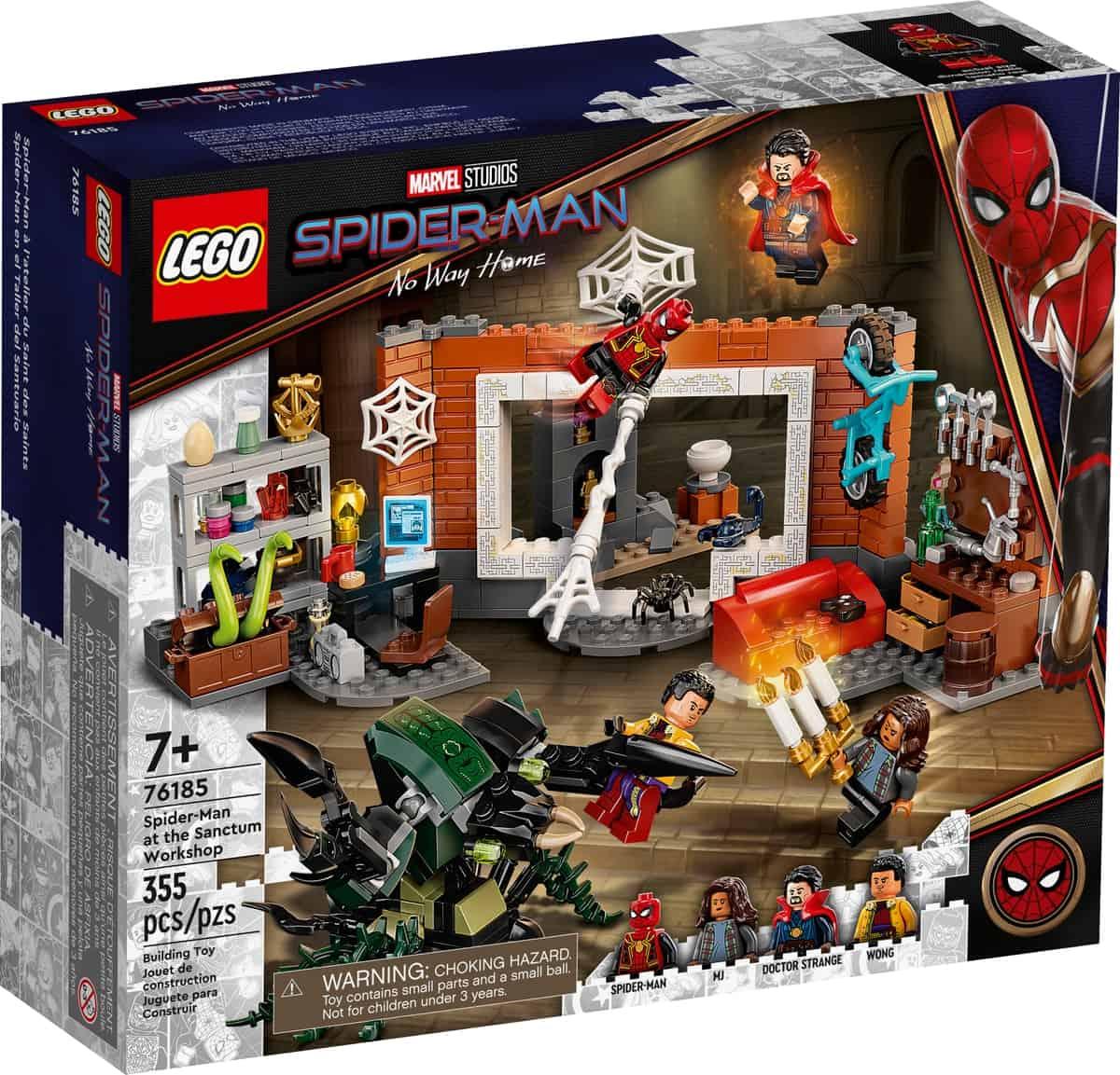 lego 76185 spider man bij de sanctum uitvalsbasis