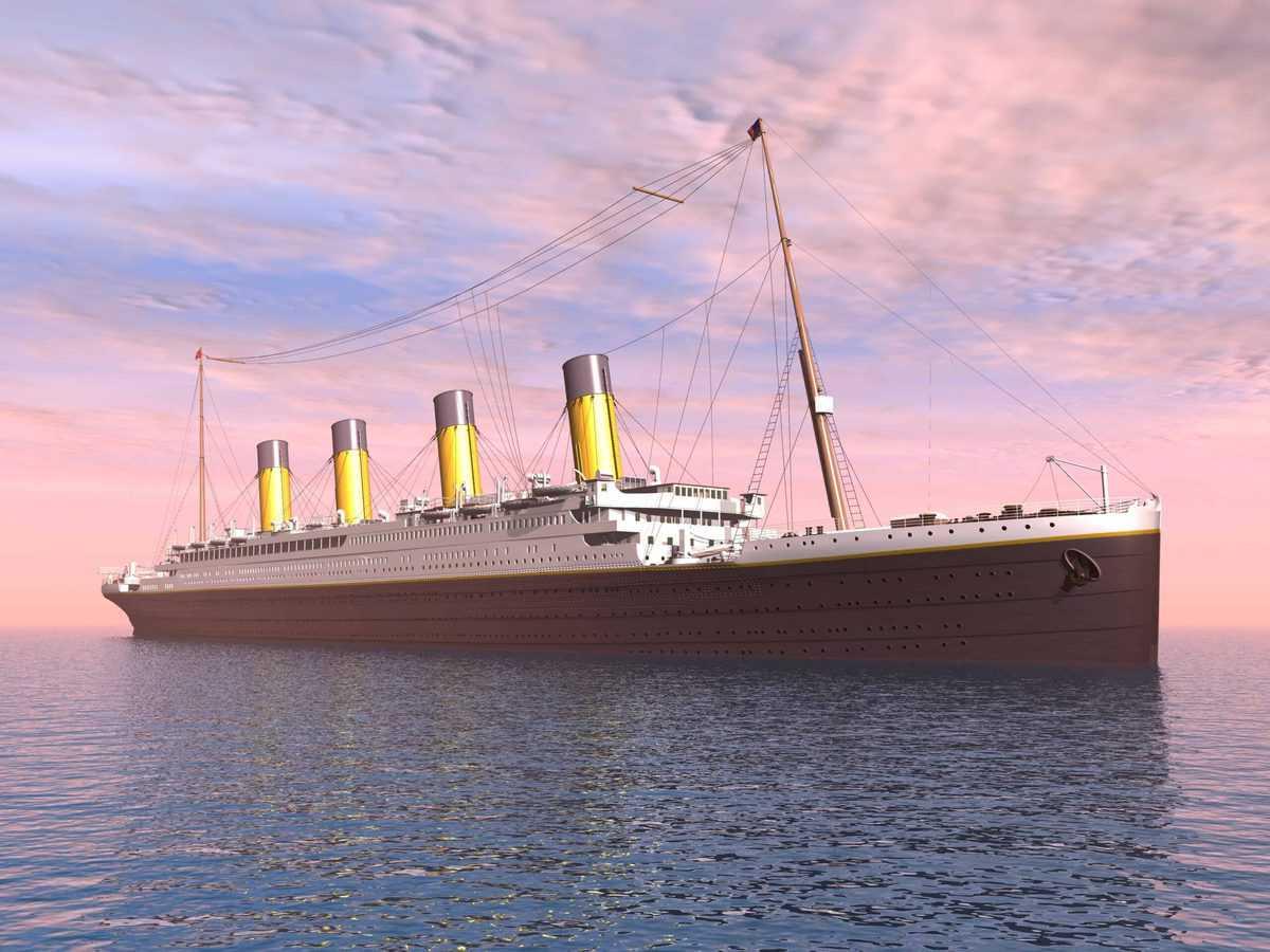 Computer gegenereerde 3D illustratie van de Titanic