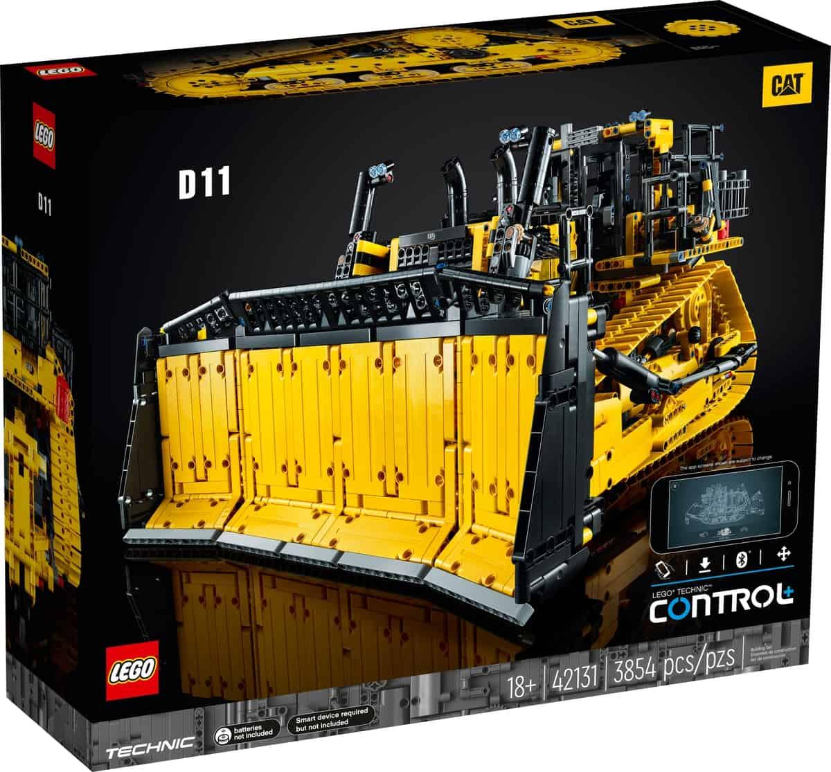 LEGO 42131 Cat D11 Bulldozer met app-besturing